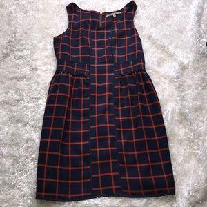 Collective Concepts Stitch Fox Sz M Navy Dress P7
